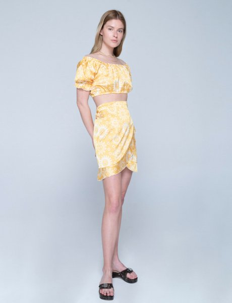 Aria skirt sun yellow