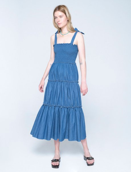 Isabella dress blue