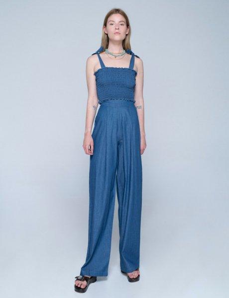 Como pants blue