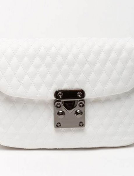 City lady white belt bag