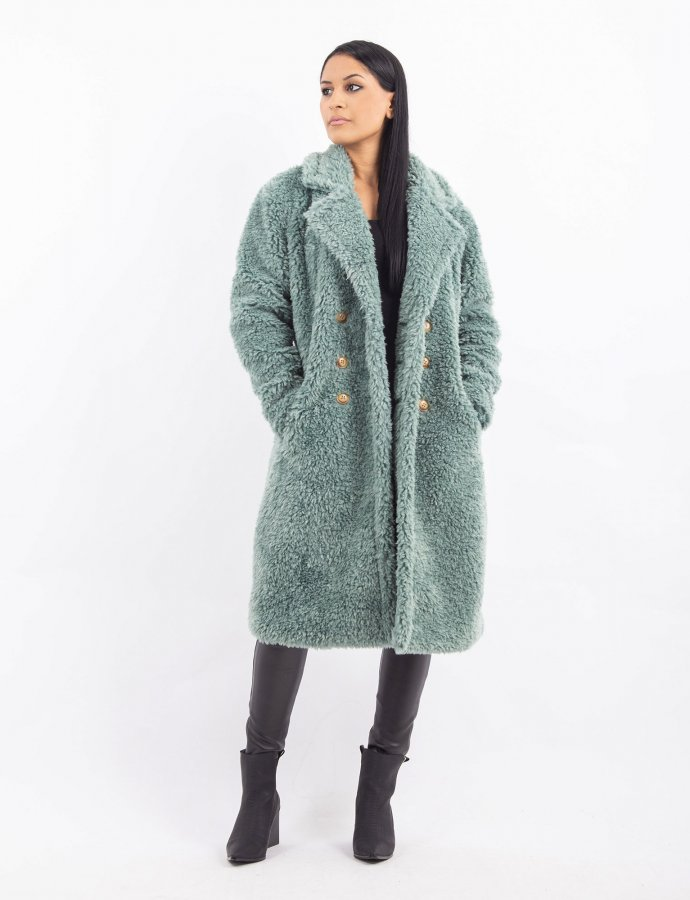 Long Sherpa peacoat