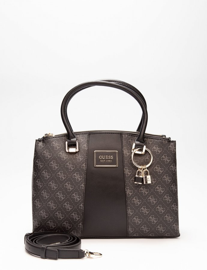 Tyren status satchel handbag dark grey