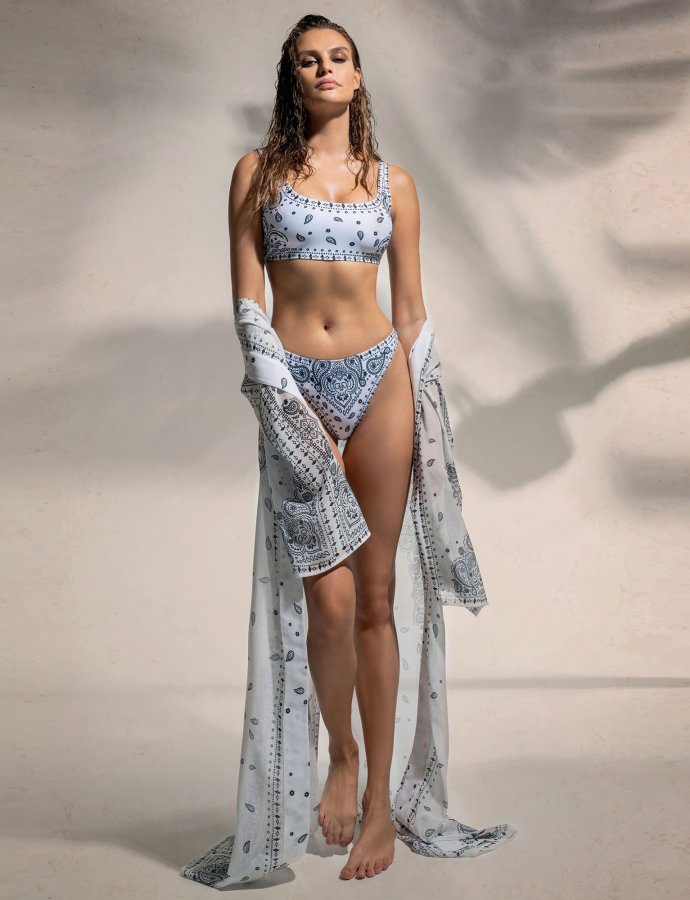 White bandana bikini