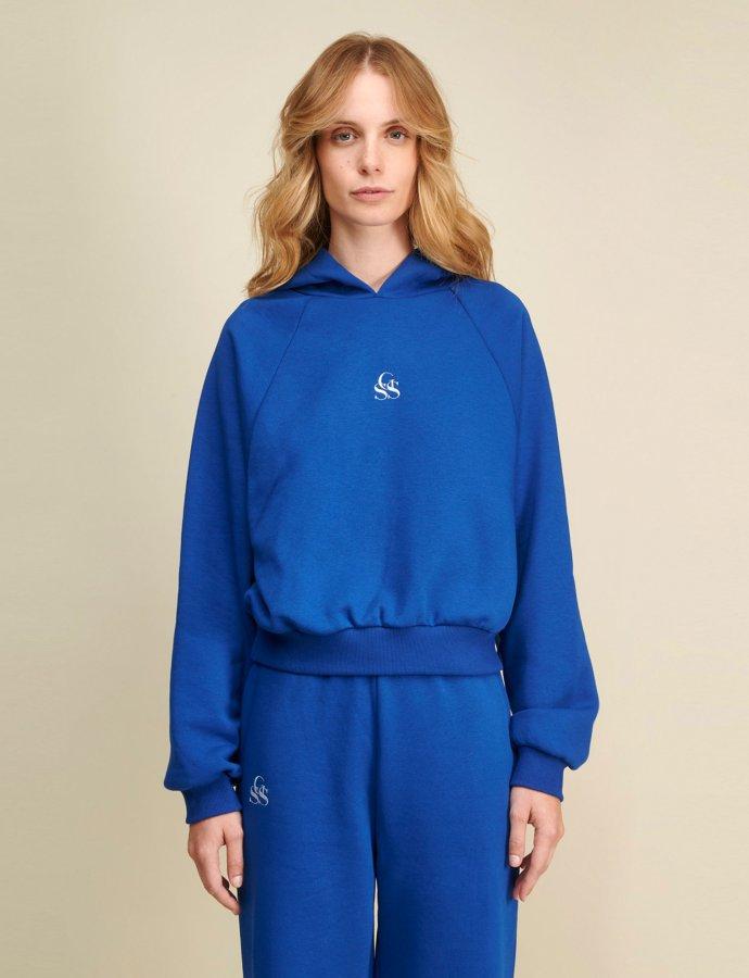 Yavia SSG blue crop hoodie