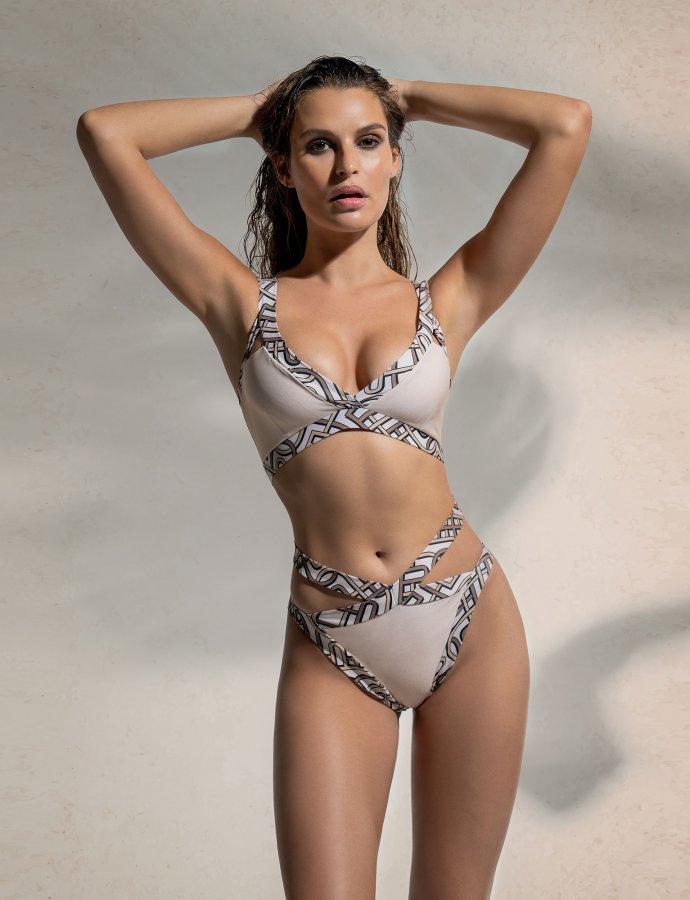 P&C pattern strappy bikini