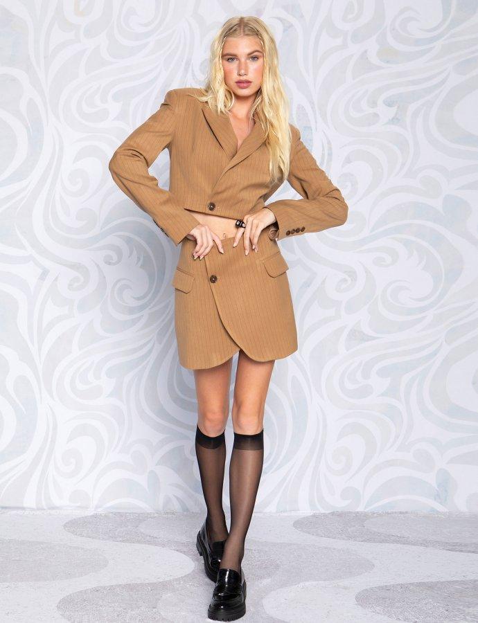 Cut blazer skirt