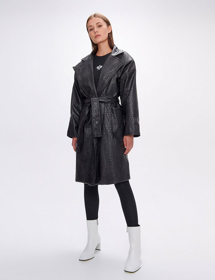 Mummy's croco coat