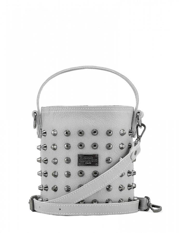 Basket bag small ice grey