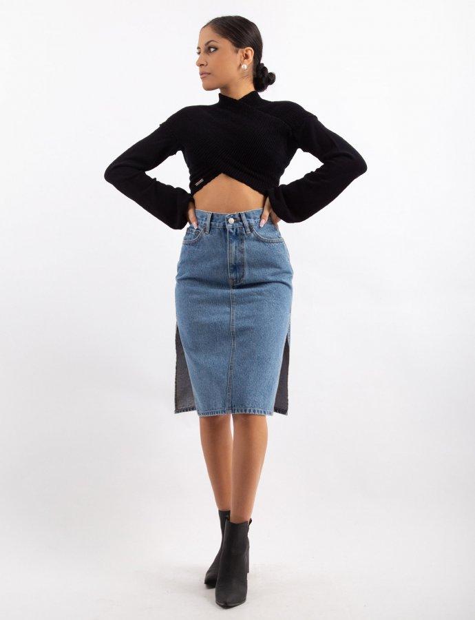 Denice dance me denim skirt