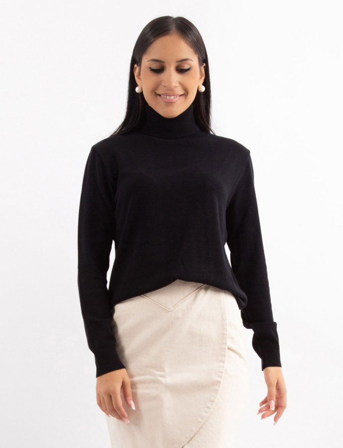 Combos W4 – Black turtleneck basic top
