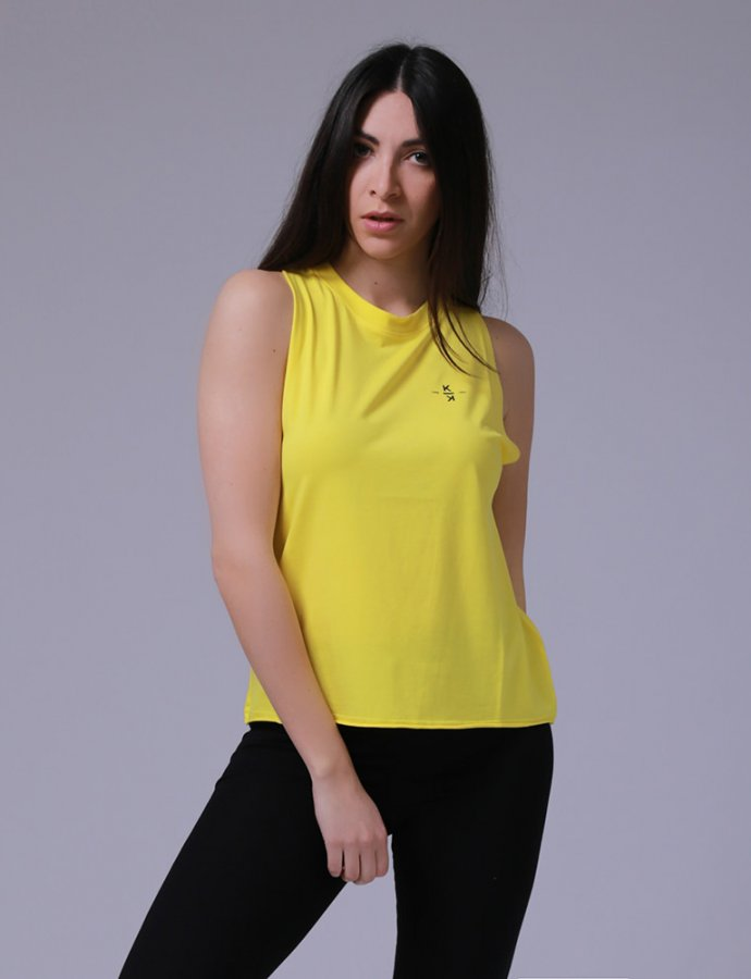KK 00011 Yellow tank top