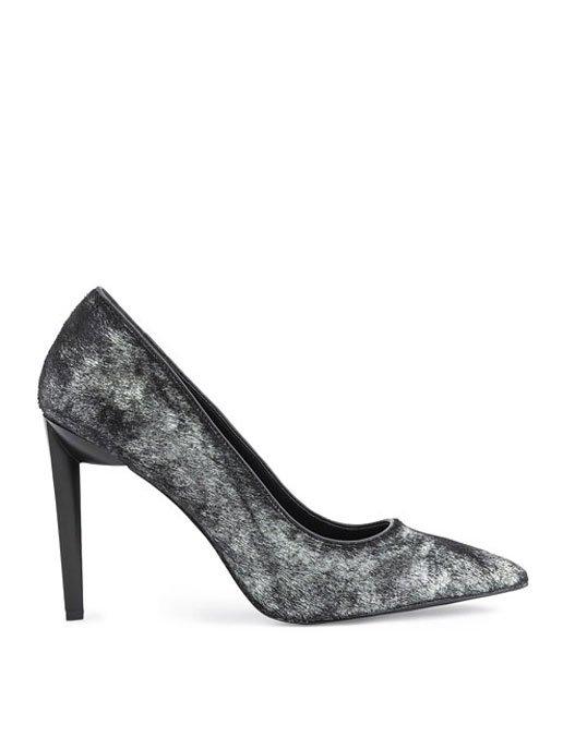 ΚΚ Olivia black/silver pony heels