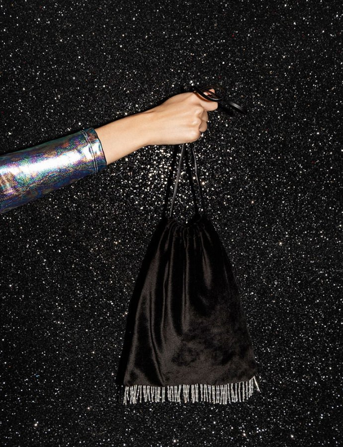 Leslie party bag black velvet