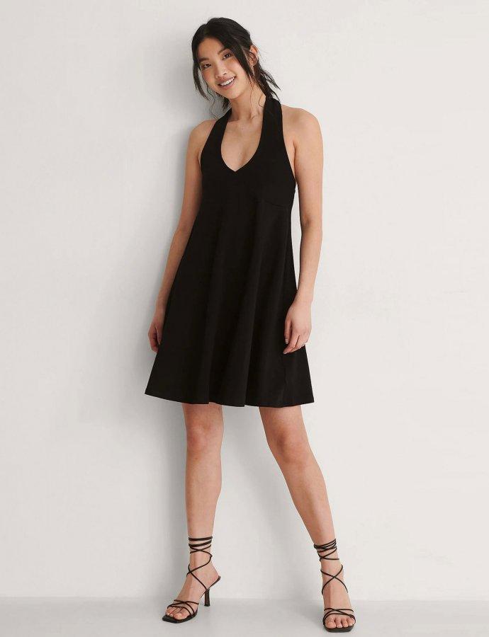 Halterneck jersey dress