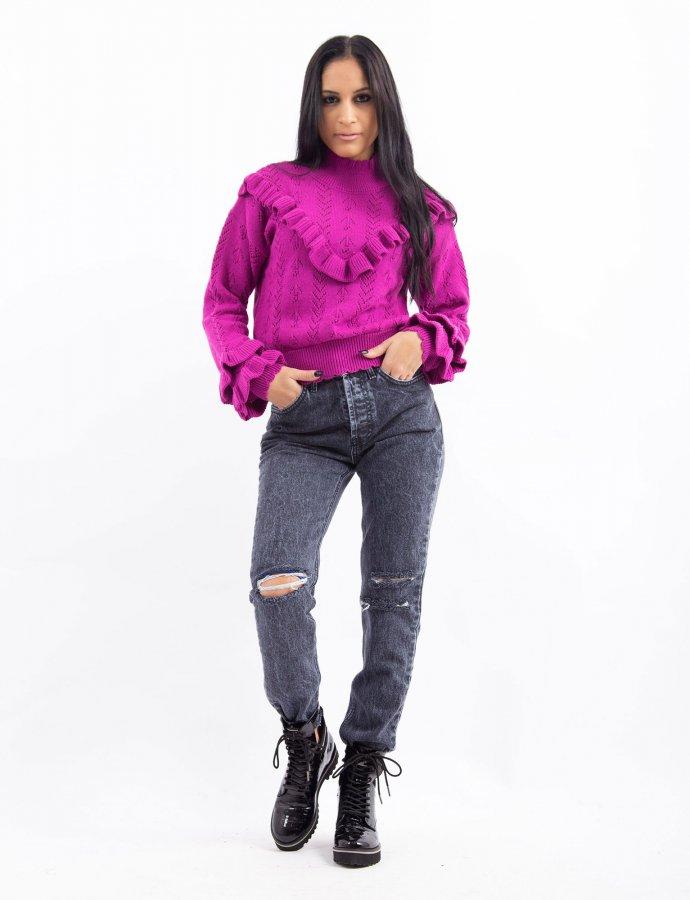 Combos W34 – Purple ruffled top