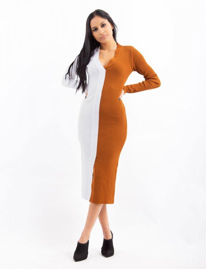 Combos W33 – Intarsia dress