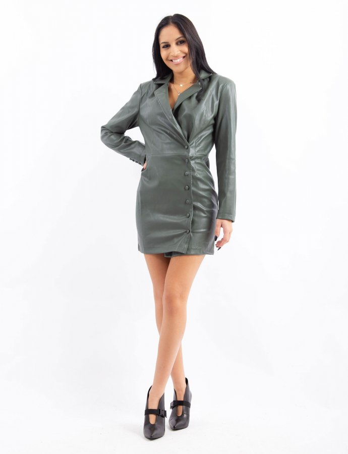 Blazer front wrap dress