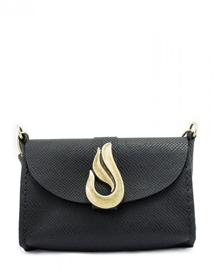 Teardrop bag black/bronze