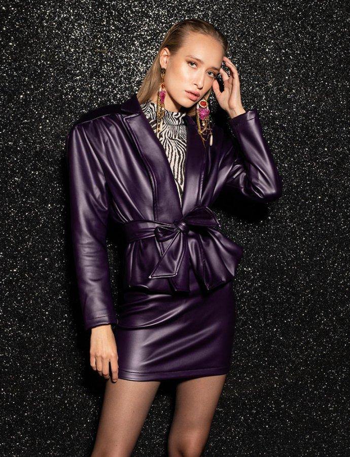 Evelyn purple jacket