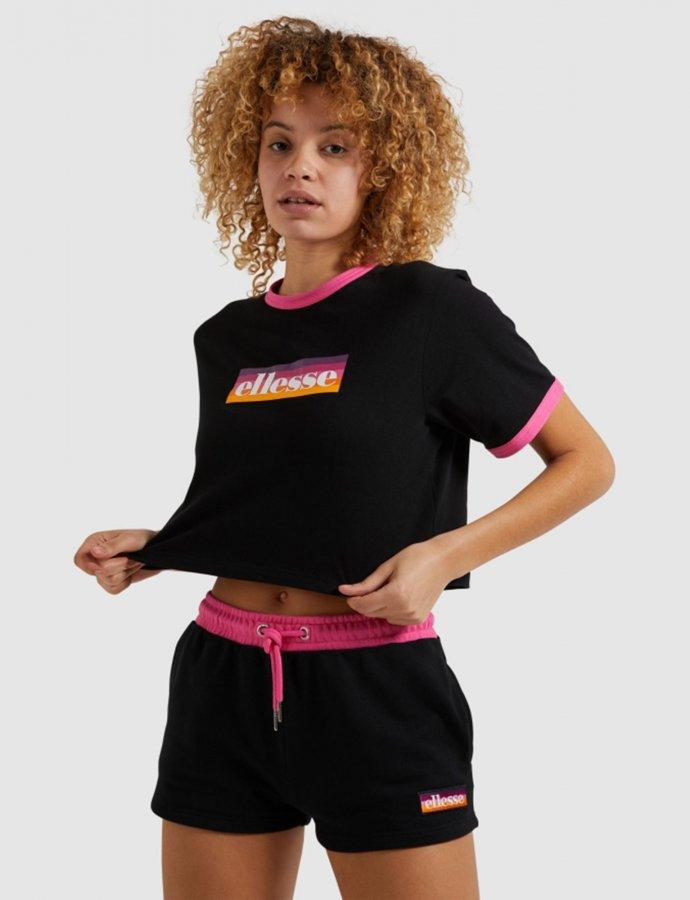 Filide crop t-shirt black