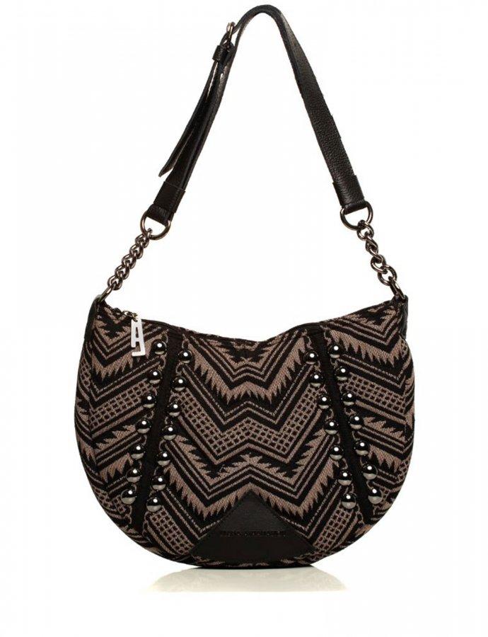 Indie chain moon bag mocha