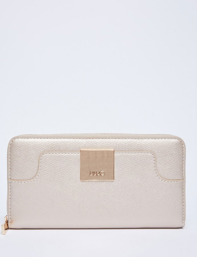 Large eco-friendly wallet light gold