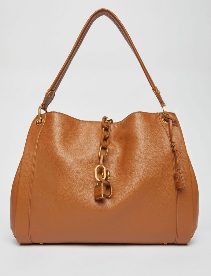 Shoulder bag with jewel chain deer