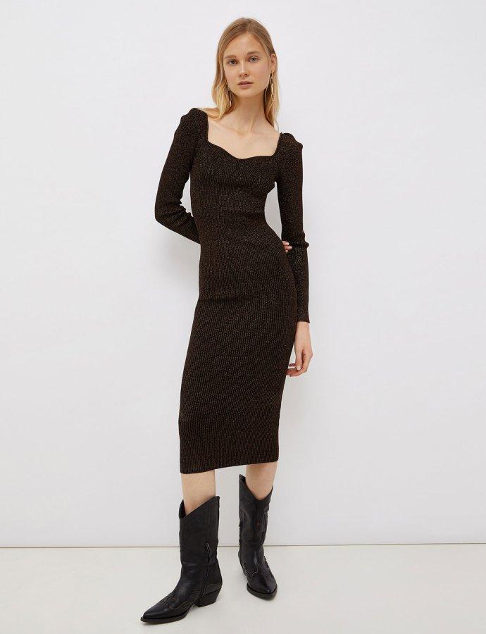 Lurex midi dress