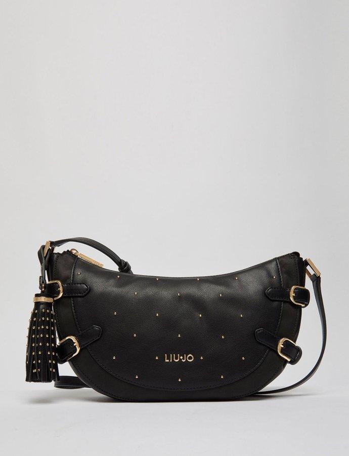 Studded crossbody bag nero