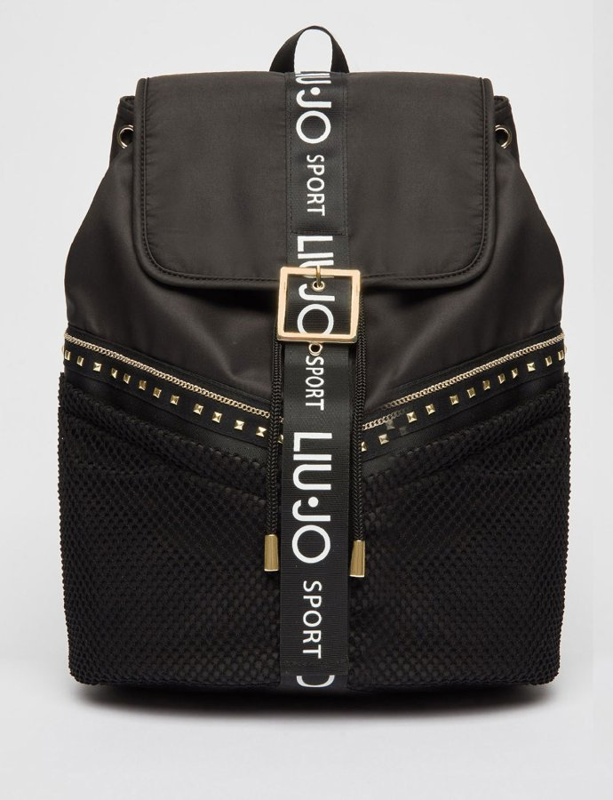 Backpack  with studs nero