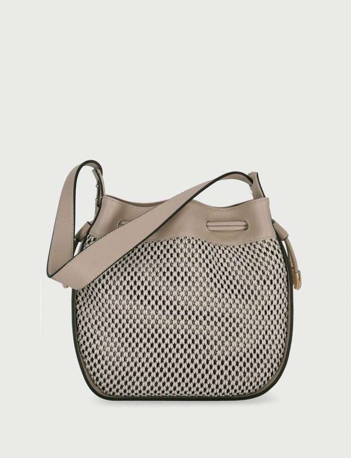 Shoulder bag with drawstring