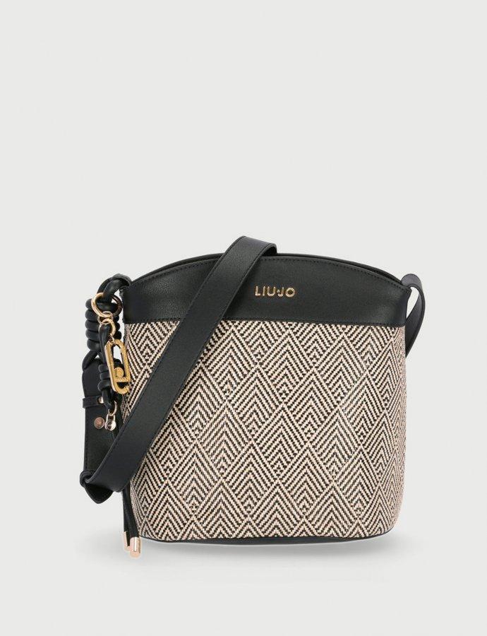 Crossbody bag raffia