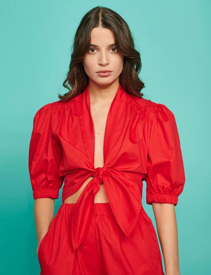 Evita top red