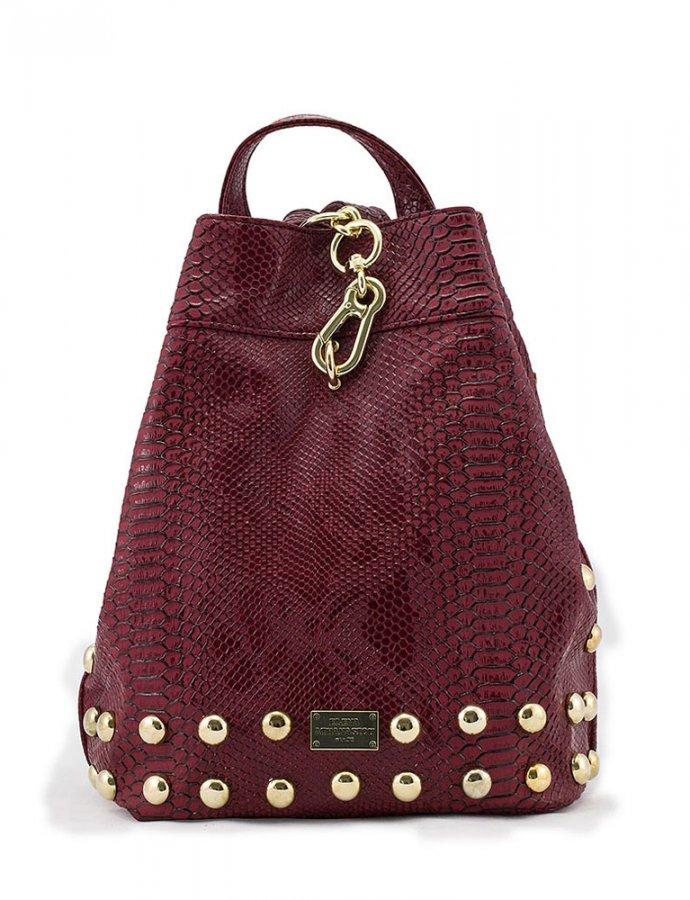 Backpack burgundy snake bag