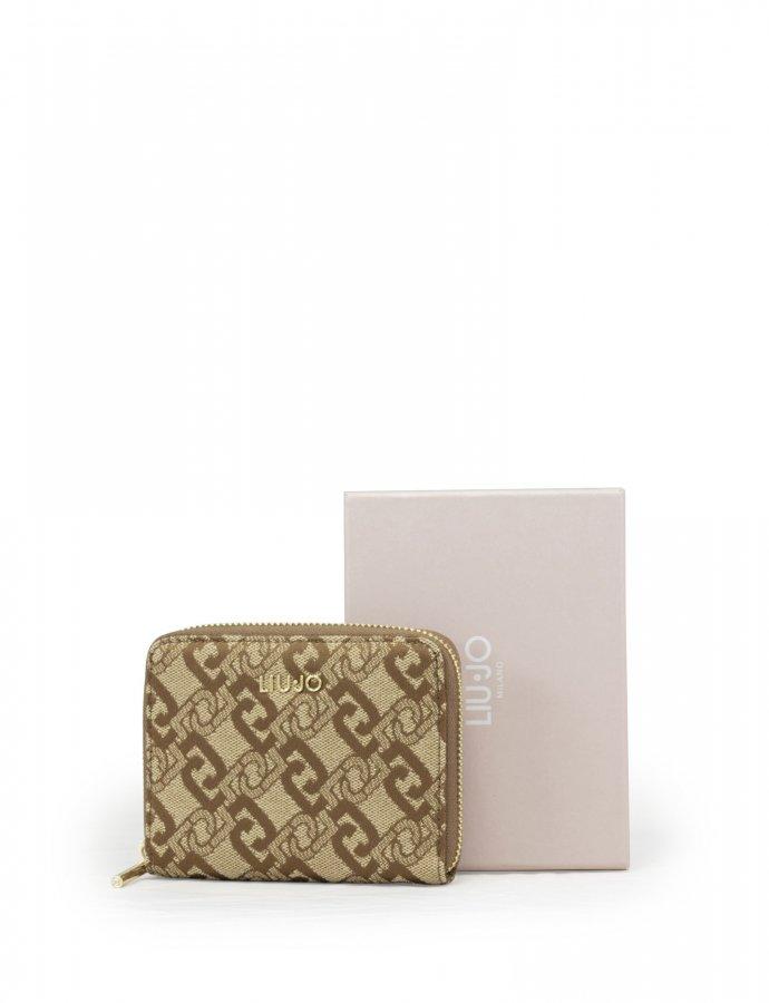 Zip around wallet tortoise shell