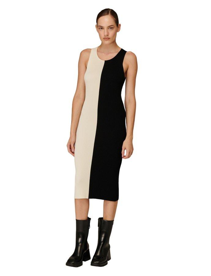 Combos W110 – Black & white midi dress