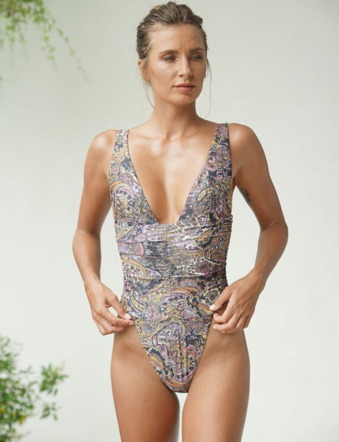 Donna paisley one-piece swimsuit