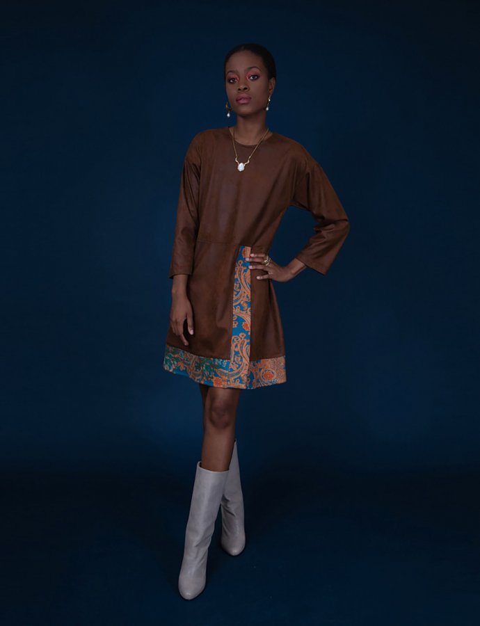 Dorian brown mini dress