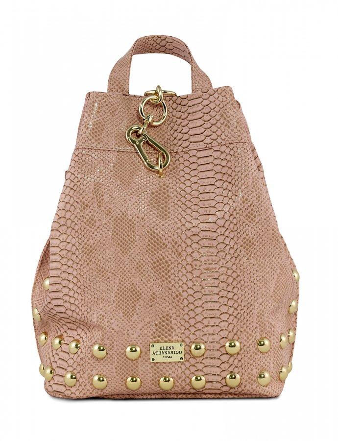 Backpack snake nude gold