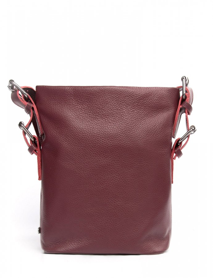 Day to evening pouch large burgundy