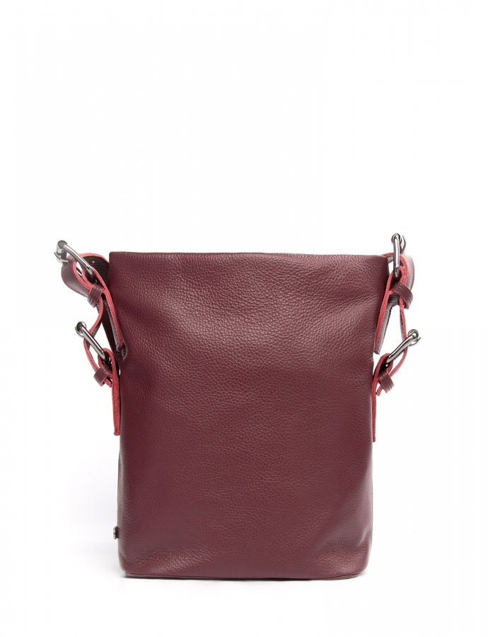 Day to evening pouch small burgundy