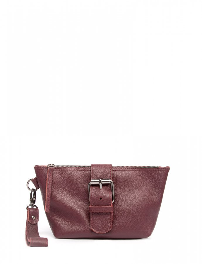 Day to evening clutch bag burgundy