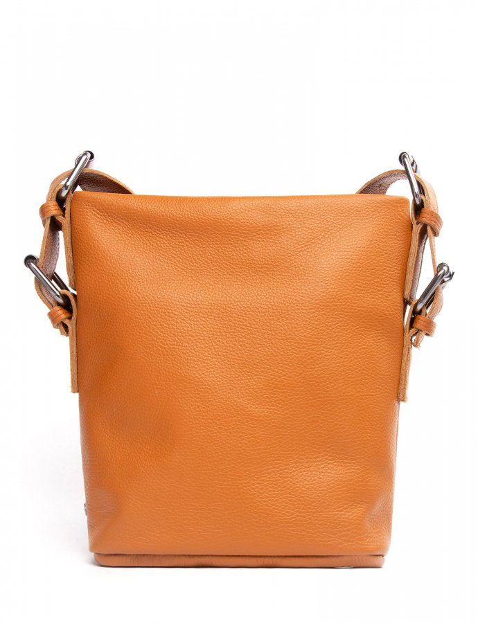 Day to evening pouch large cognac