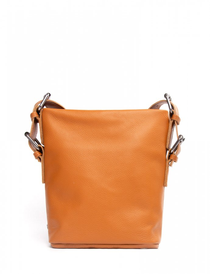 Day to evening pouch small cognac