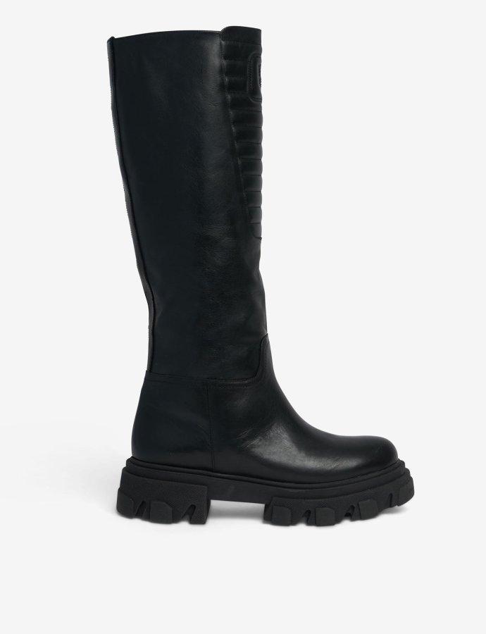 Eyelike biker boots