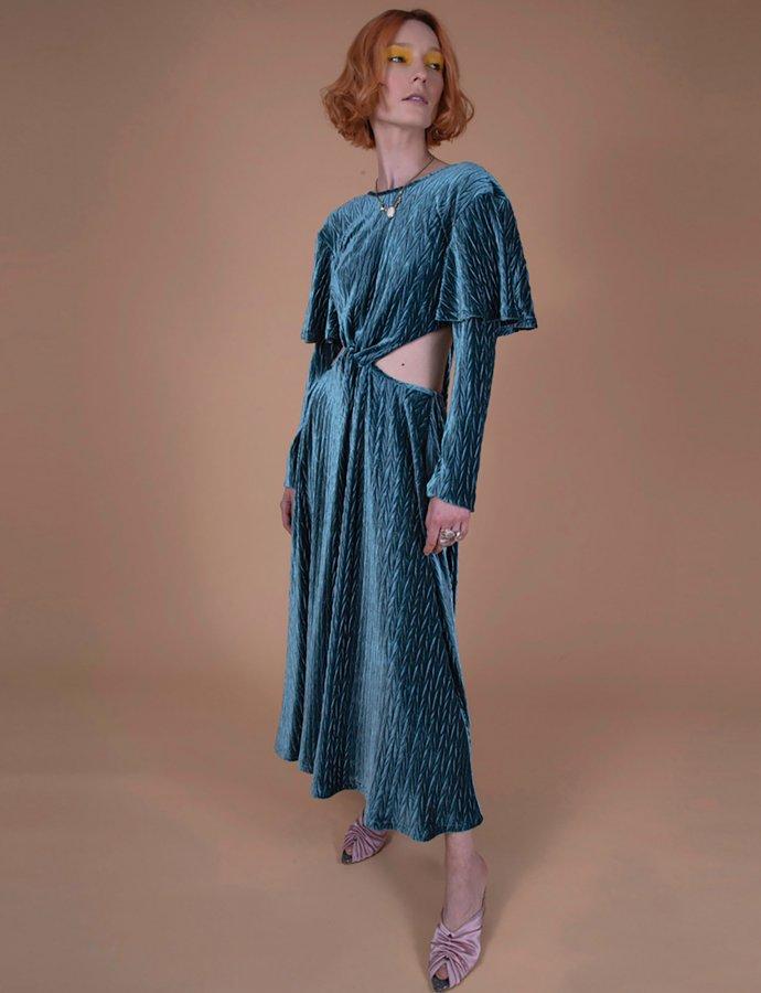 Gil petrol dress