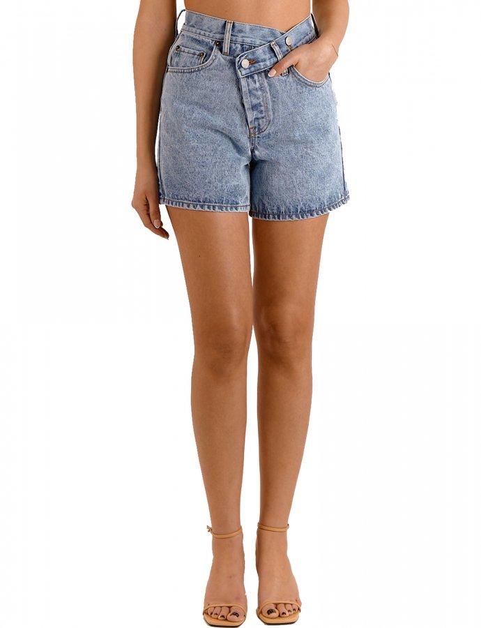 Gabriella barrel crooked denim shorts