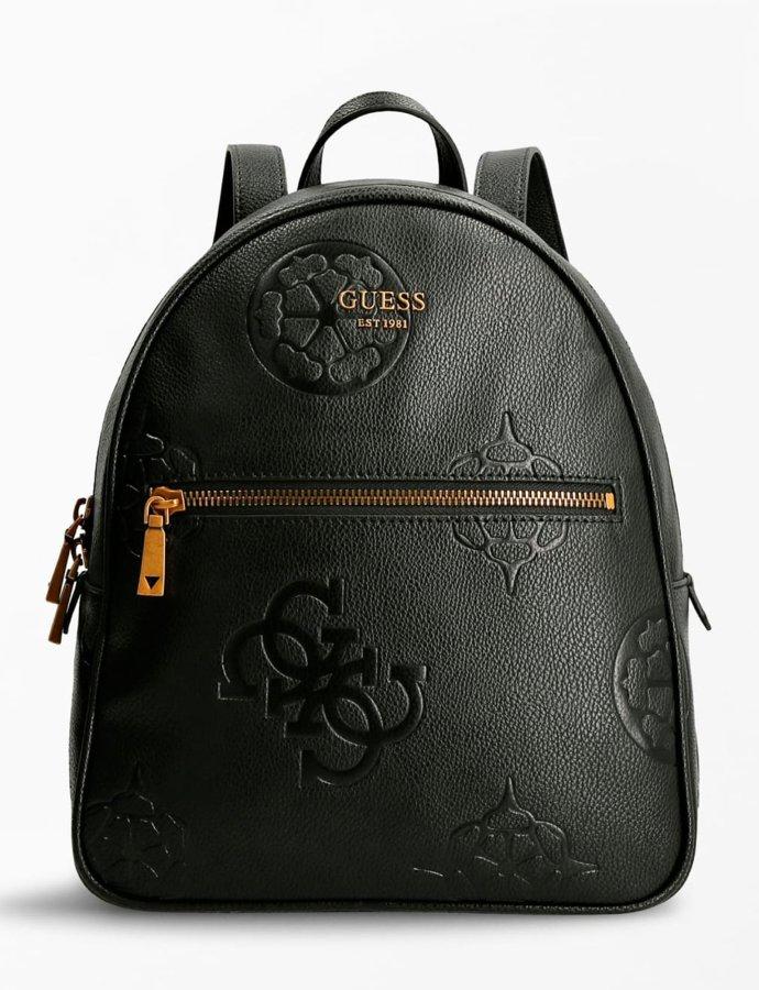 Vikky 4G peony logo backpack black