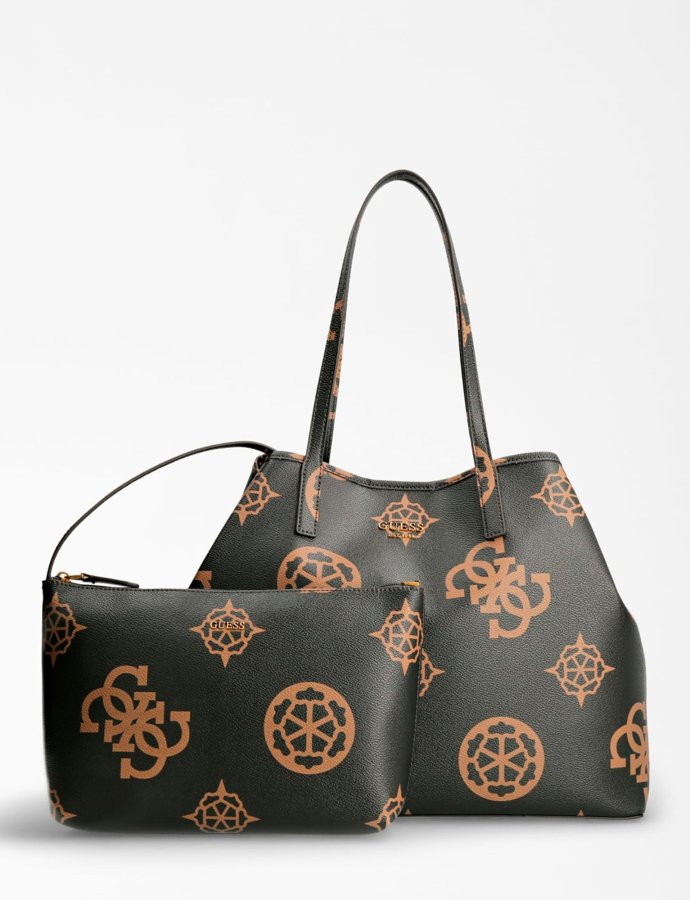Vikky large tote bag brown/mocha logo