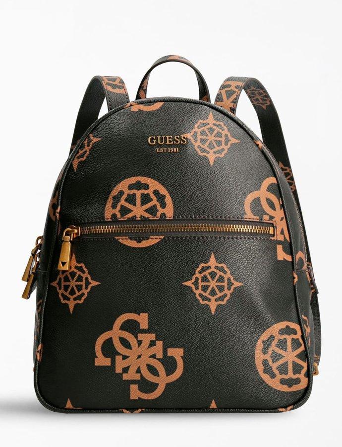 Vikky 4G peony logo backpack brown/mocha